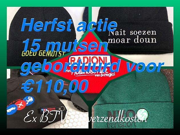 Wintermutsen laten borduren met naam of logo - Reclame en Borduurstudio An Zuidbroek