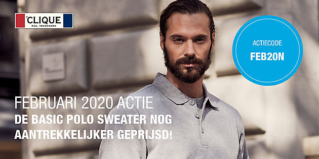 Aanbieding Basic Polo Sweater - Reclame en Borduurstudio An Zuidbroek