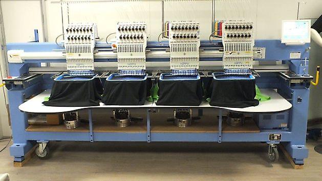 Happy industriële borduurmachines - Reclame en Borduurstudio An Zuidbroek