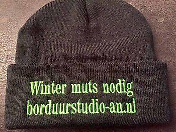 Borduren van kleding, mutsen en caps/petten Reclame en Borduurstudio An Zuidbroek