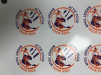 Stickers printen in full color Reclame en Borduurstudio An Zuidbroek